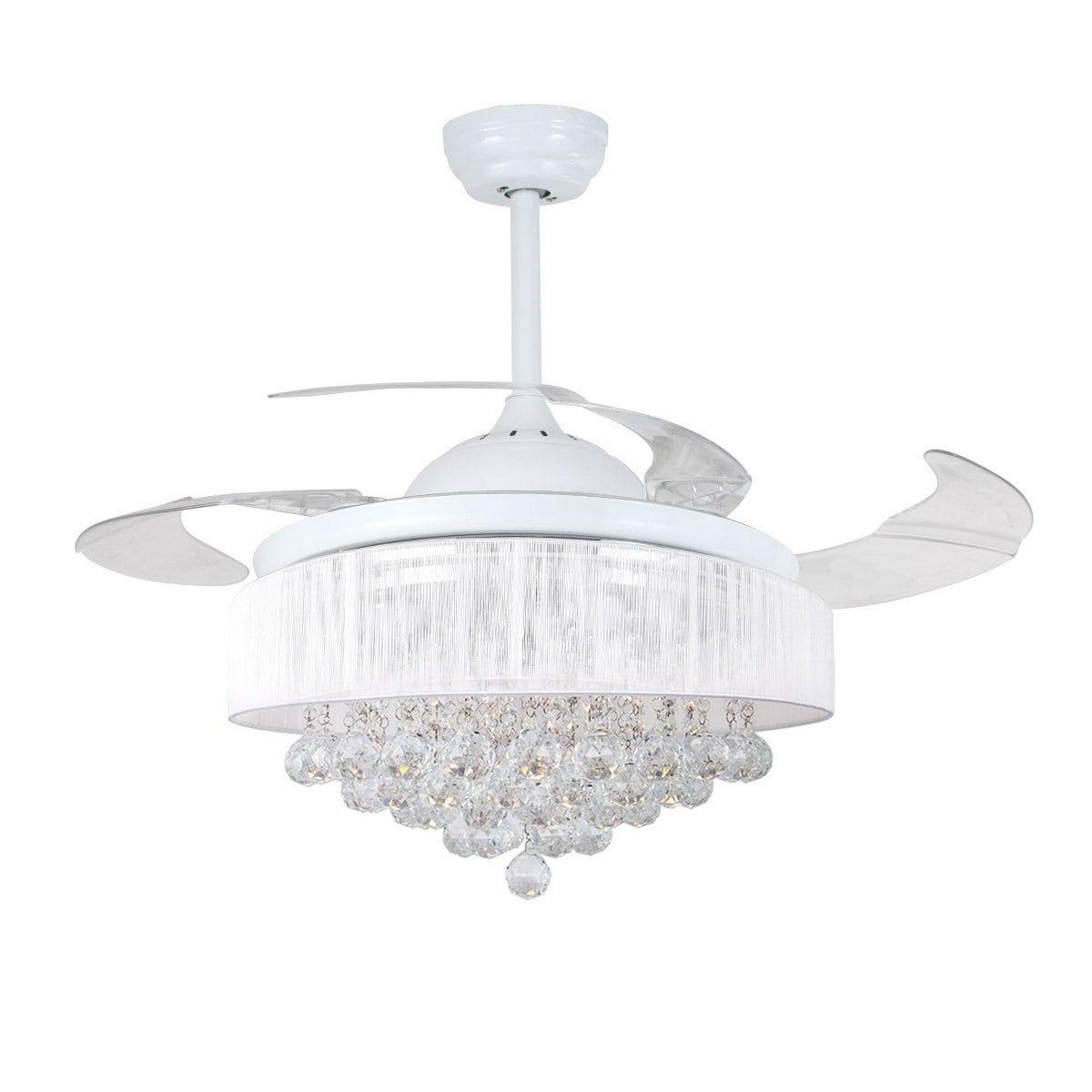 White Chandelier Ceiling Fan: Bedding, Furniture, Electronics, Jewelry