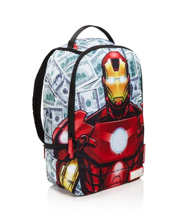 Sprayground Boys  Ironman Money Bag Backpack  e54c181d6c9c7