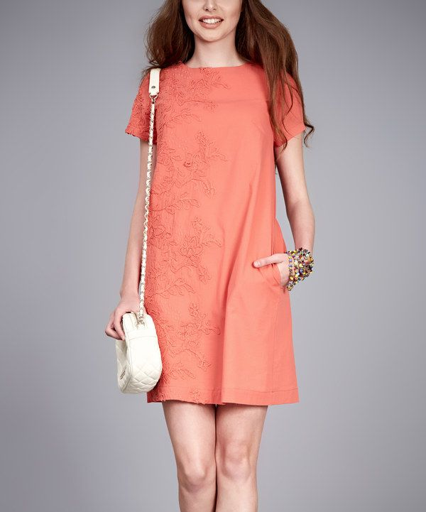 Look at this Petra Terracotta Newdjill Dress on #zulily today!