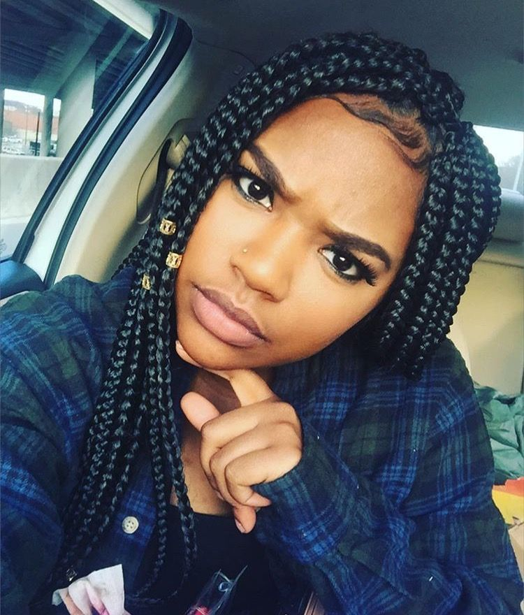 Pin By African American Hairstyles On Natural Hair Style Braids Pinterest Box Braids