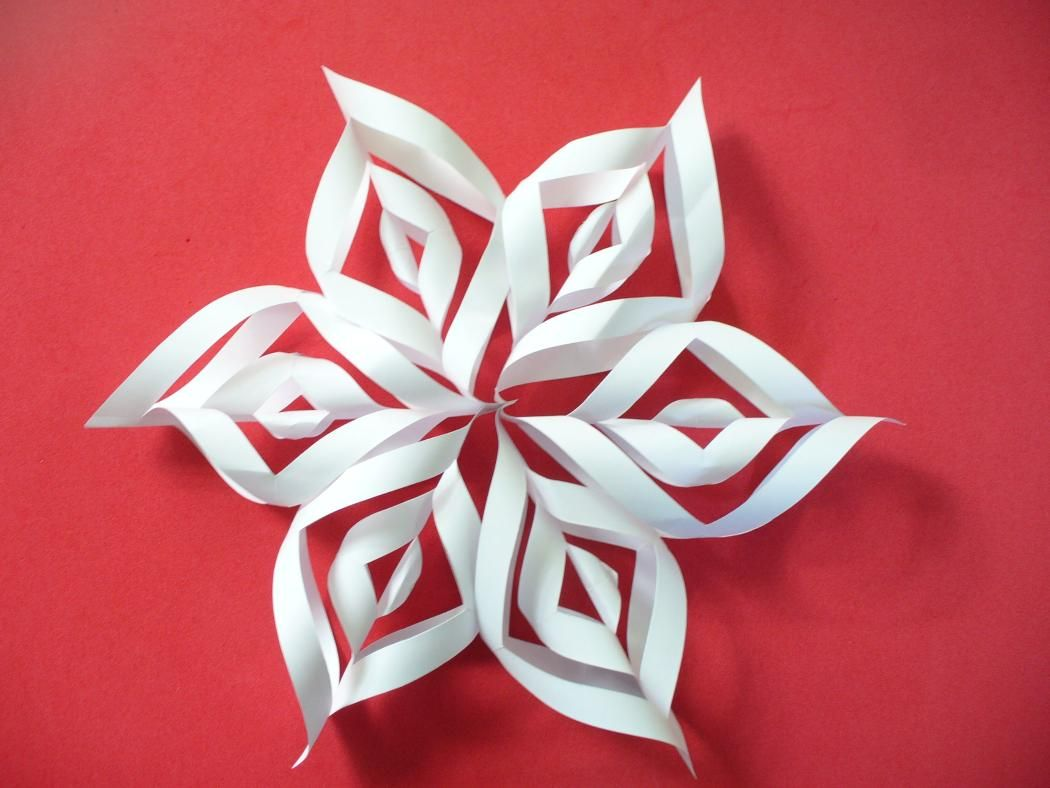 simple easy to do paper snowflakes you can make this 6 wing snowflakes and use it to decorate your christmas tree or hang it on the window