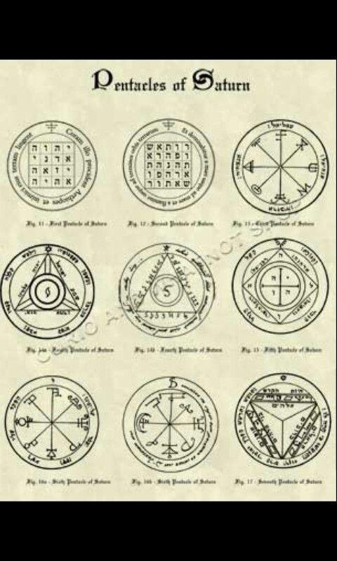 Pentacles Of Saturn King Solomon Inspirao Pinterest King