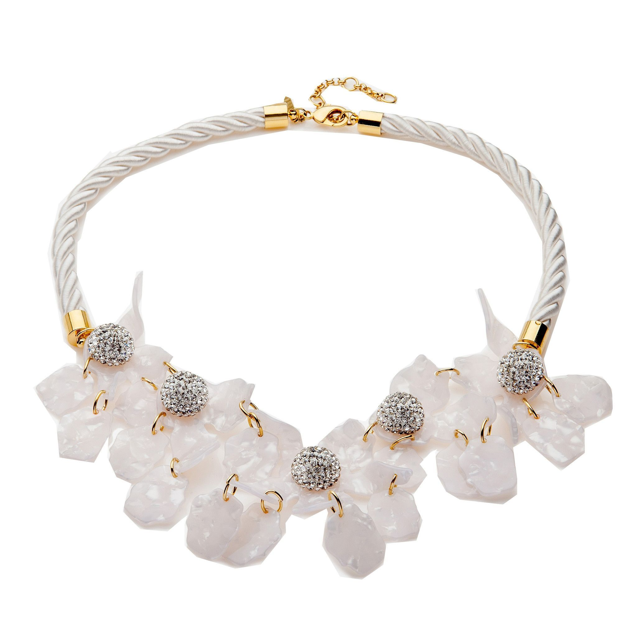 Lele Sadoughi Crystal Lily Statement Necklace