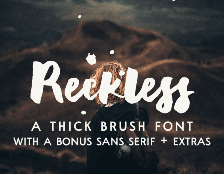Reckless Free Thick Brush Font Brush Font New Fonts Font Shop