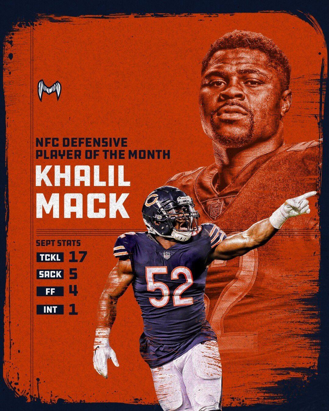 Khalil Mack Chicago bears wallpaper, Chicago sports teams