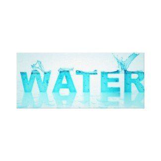 Zazzle on Blue water Canvas