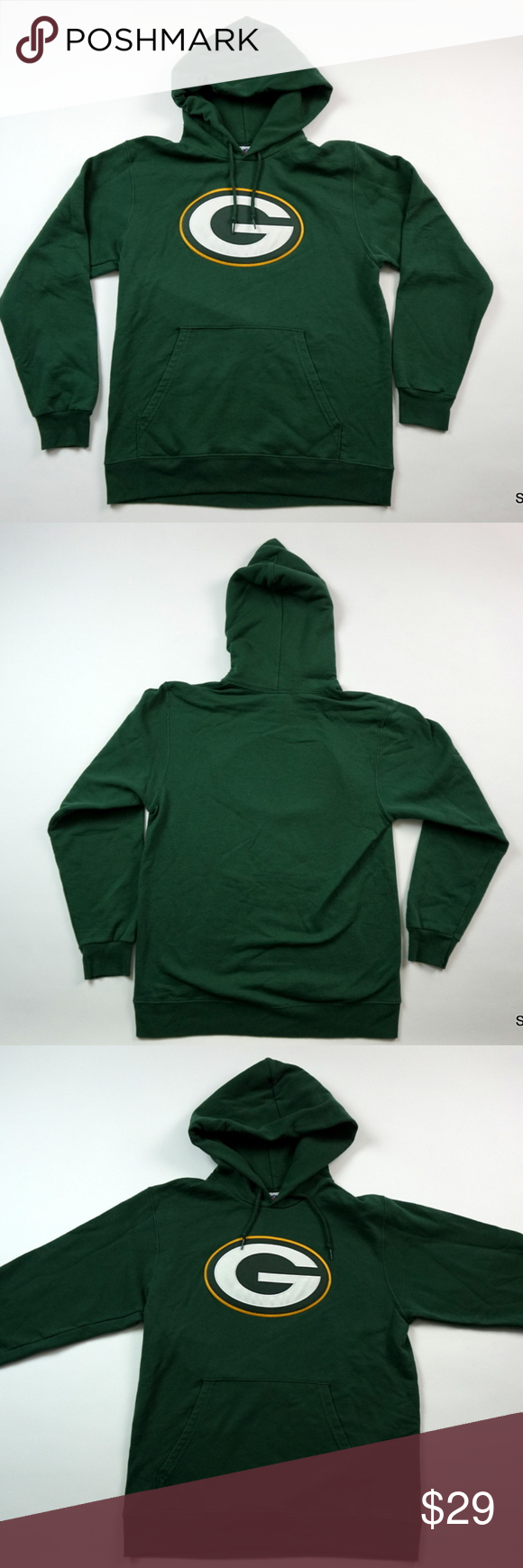 the latest 05234 beab1 Green Bay Packers NFL Logo Embroidered Hoodie Sm   My Posh ...
