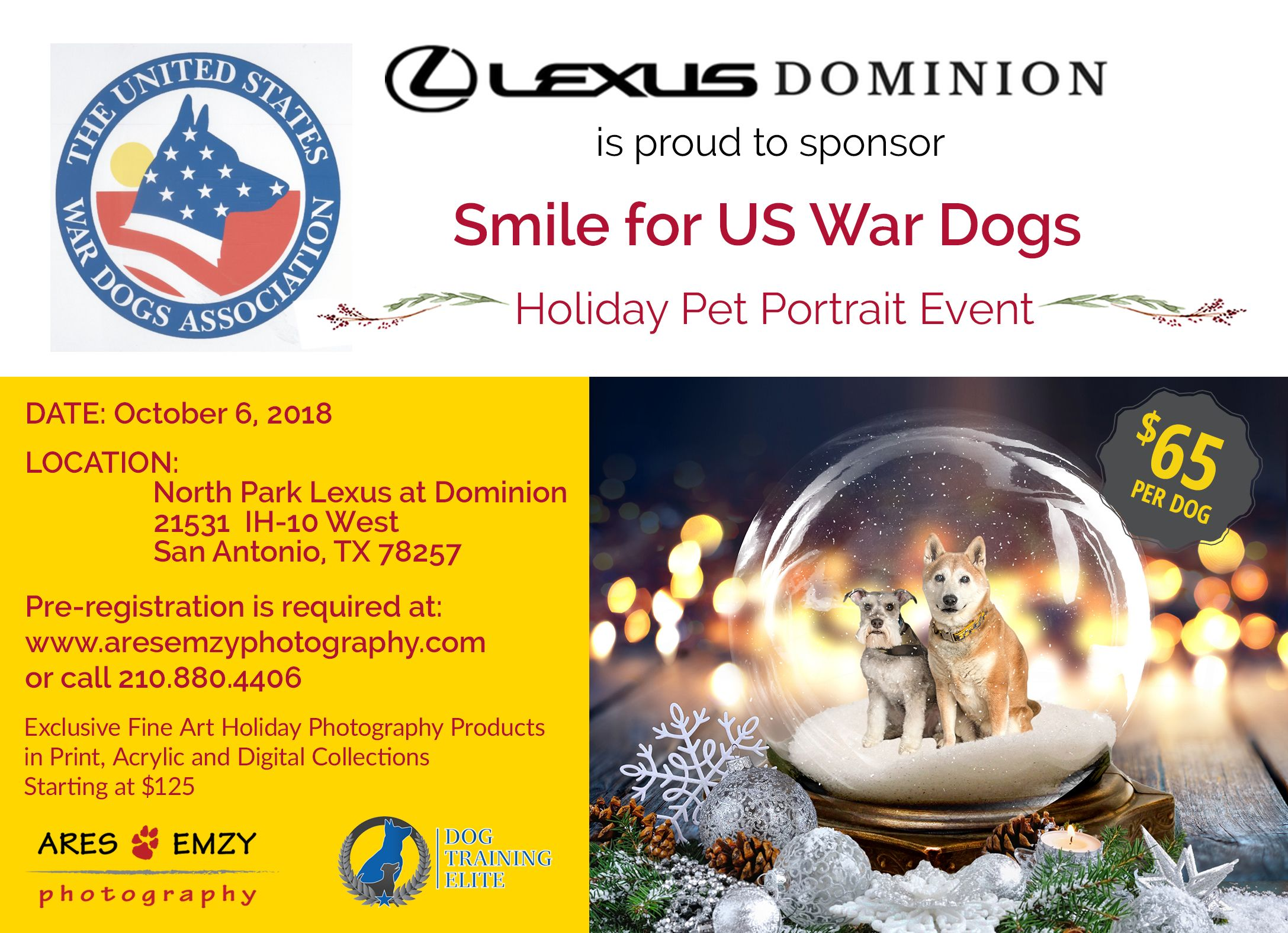 Get A Jump On Your Holiday Pet Portraits And Help Out Us War Dogs