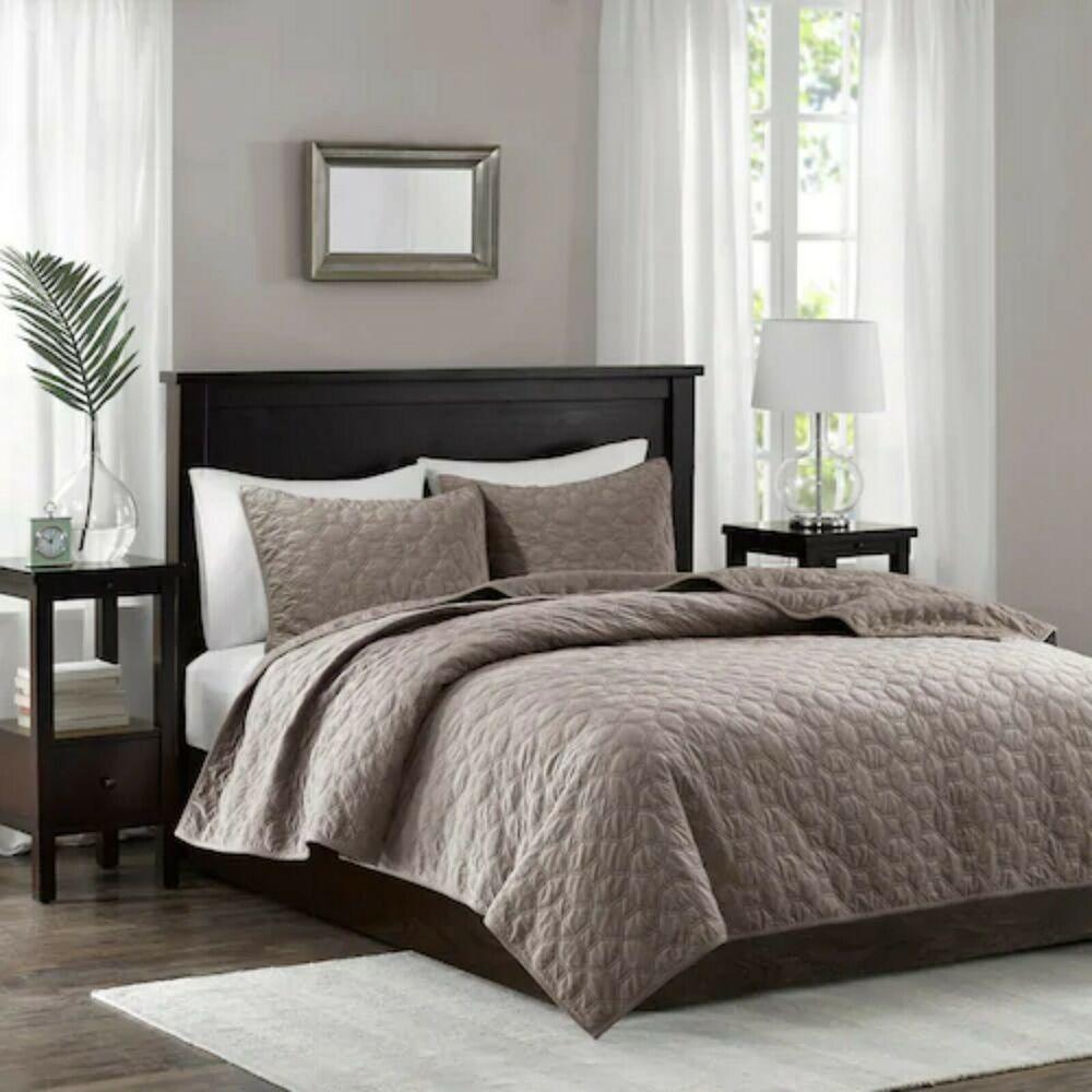 Madison Park Apartments California: NEW Madison Park HARPER 3pc Set Cal KING Coverlet Velvet