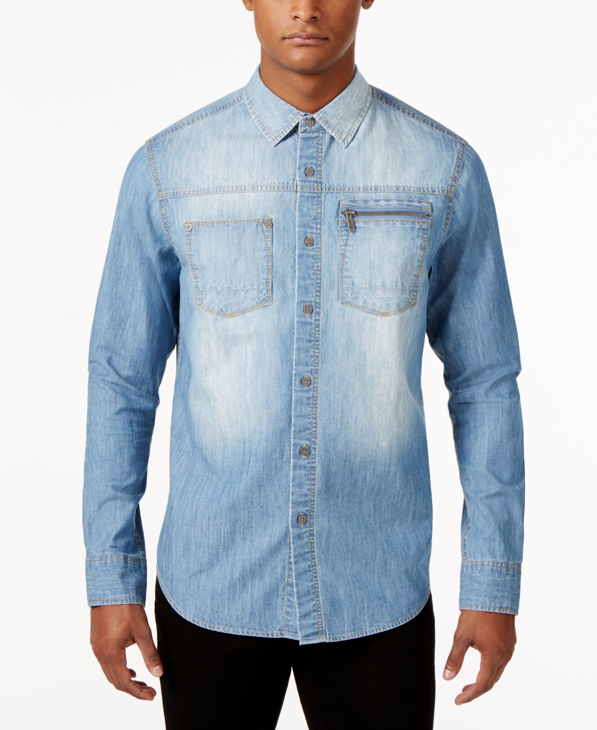 1c8fdb624b3 Sean John Men s Denim Shirt