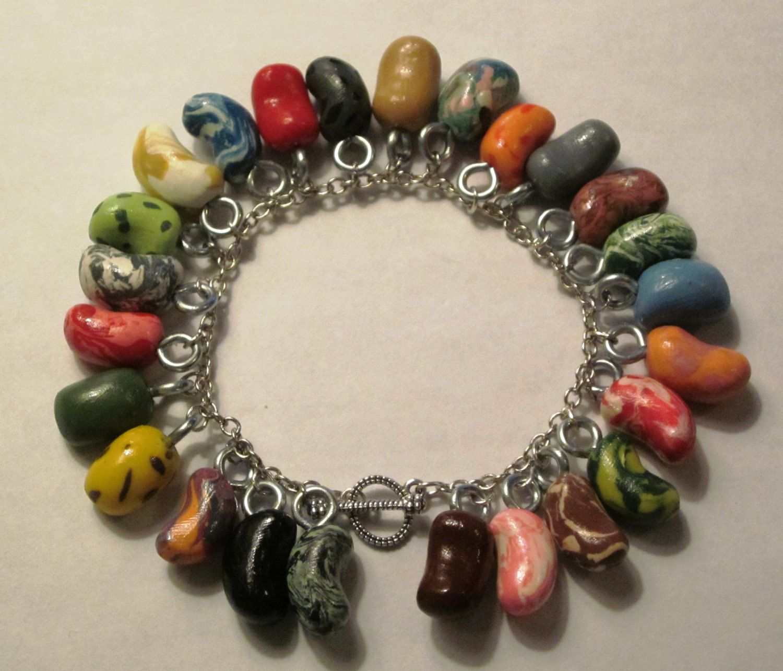 Polymer Clay Charm Bracelet: Every Flavor Bean Charm Bracelet