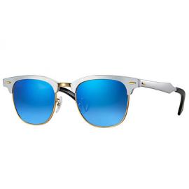 7e7969710a Ray Ban Clubmaster Aluminum Flash Lenses Gradient RB3507 sunglasses –  Silver Frame   Blue Gradient Flash Lens