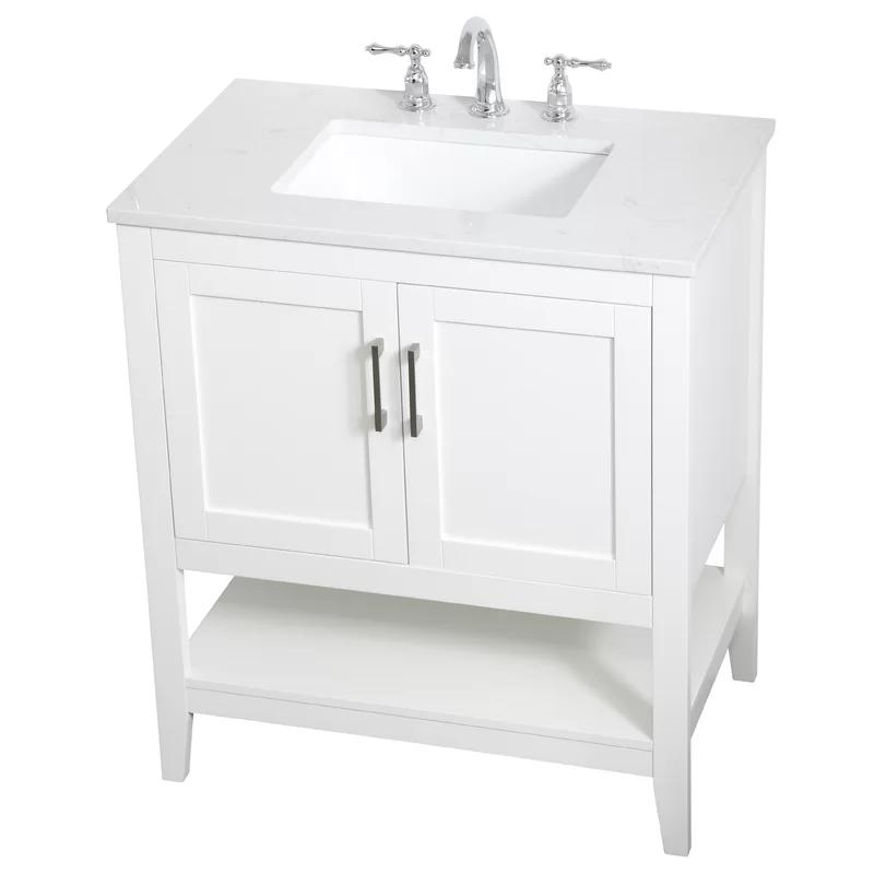 Beachcrest Home Ione 30 Single Bathroom Vanity Set Reviews Wayfair In 2020 Single Bathroom Vanity Bathroom Vanity Vanity Set