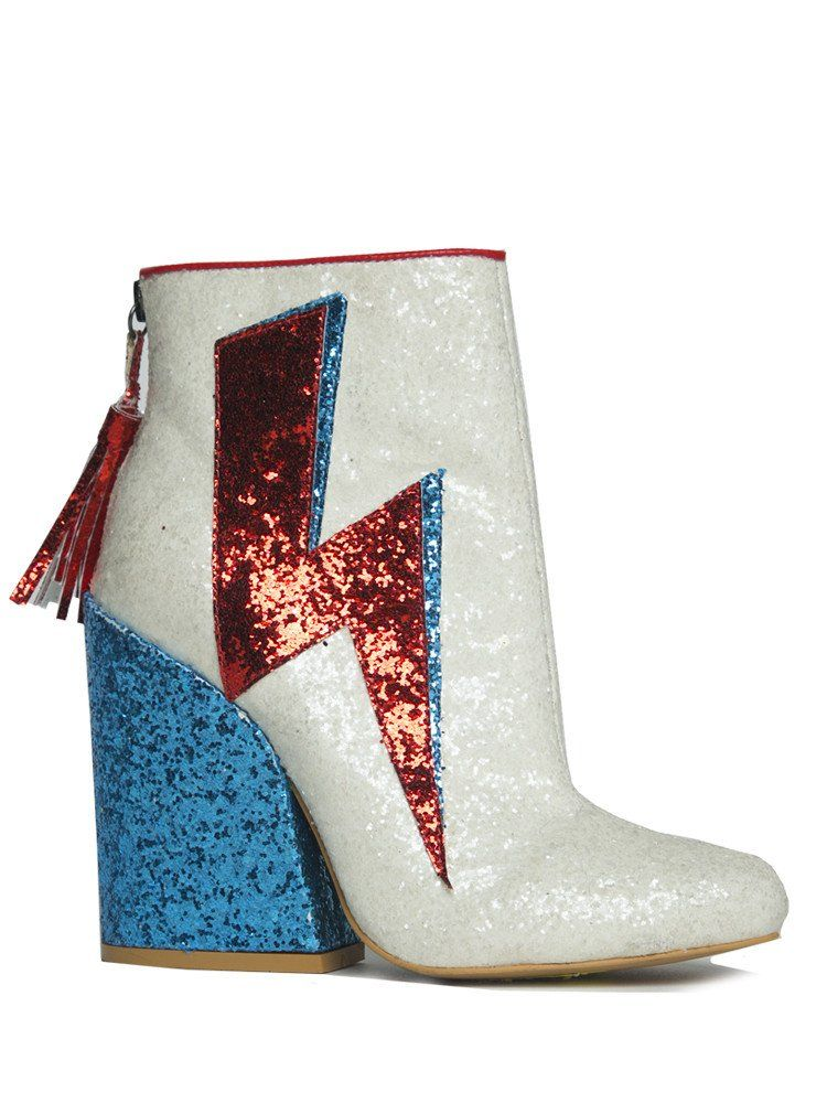 f4ff3a6a022a1 Ziggy Stardust in White | NYLON SHOP | Shoes in 2019 | Glitter boots ...