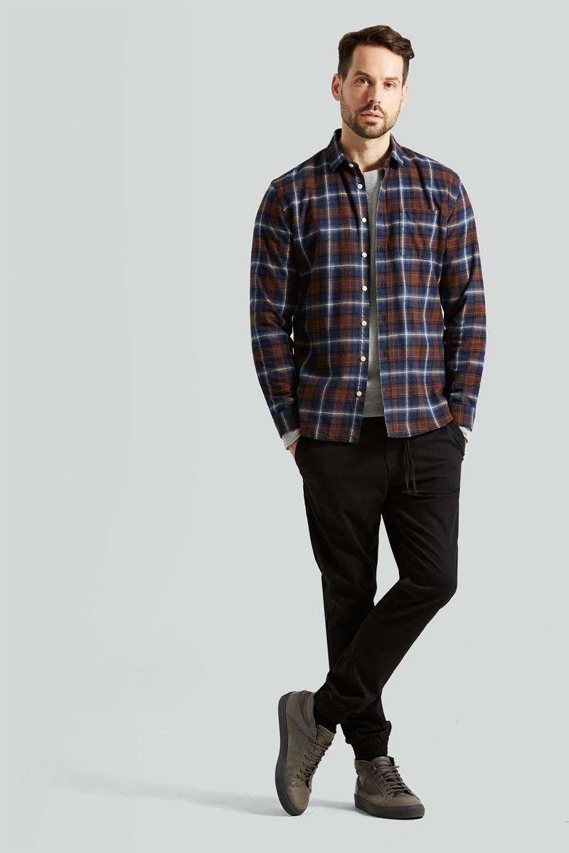 Flannel shirt under suit  Plaid Flannel Shirt in Brown  My Wardrobe  Pinterest  Mens suits
