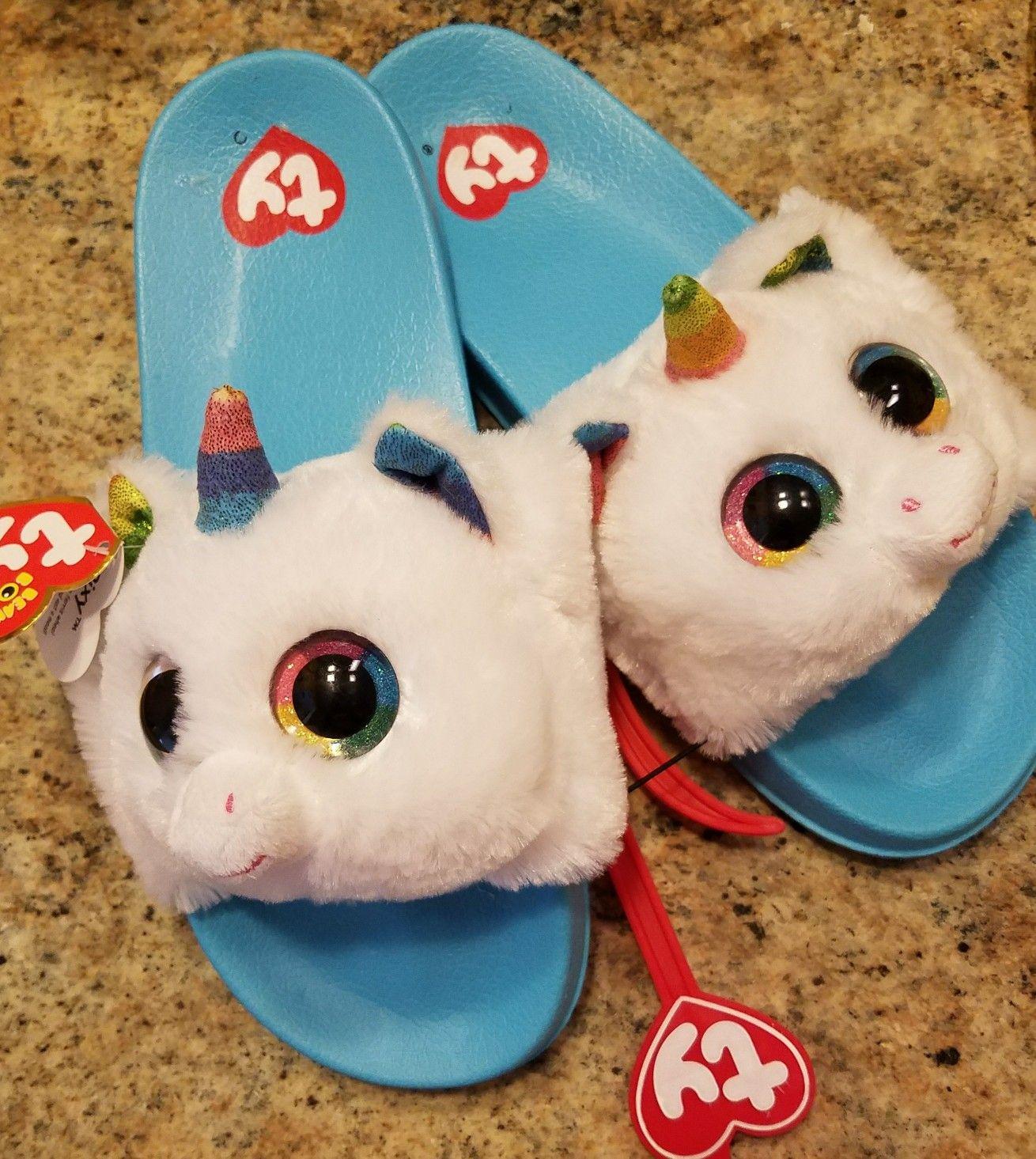 70d72df48 Ty beanie boo unicorn slippers shoes | Beanie boos | Ty beanie boos ...