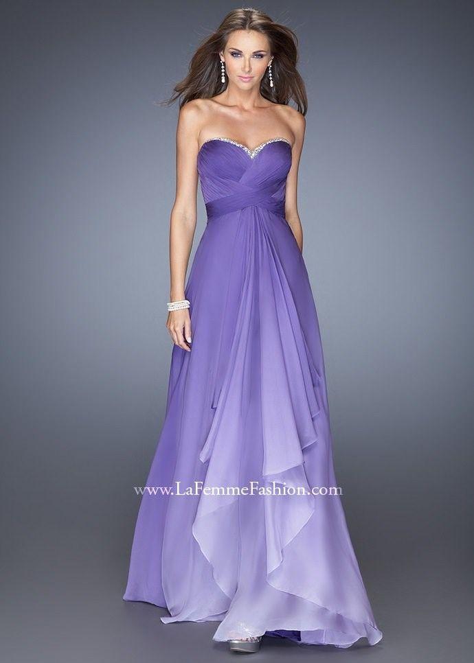 La Femme 19686 Ombre Evening Gown | Vestidos de noche, Noche y ...