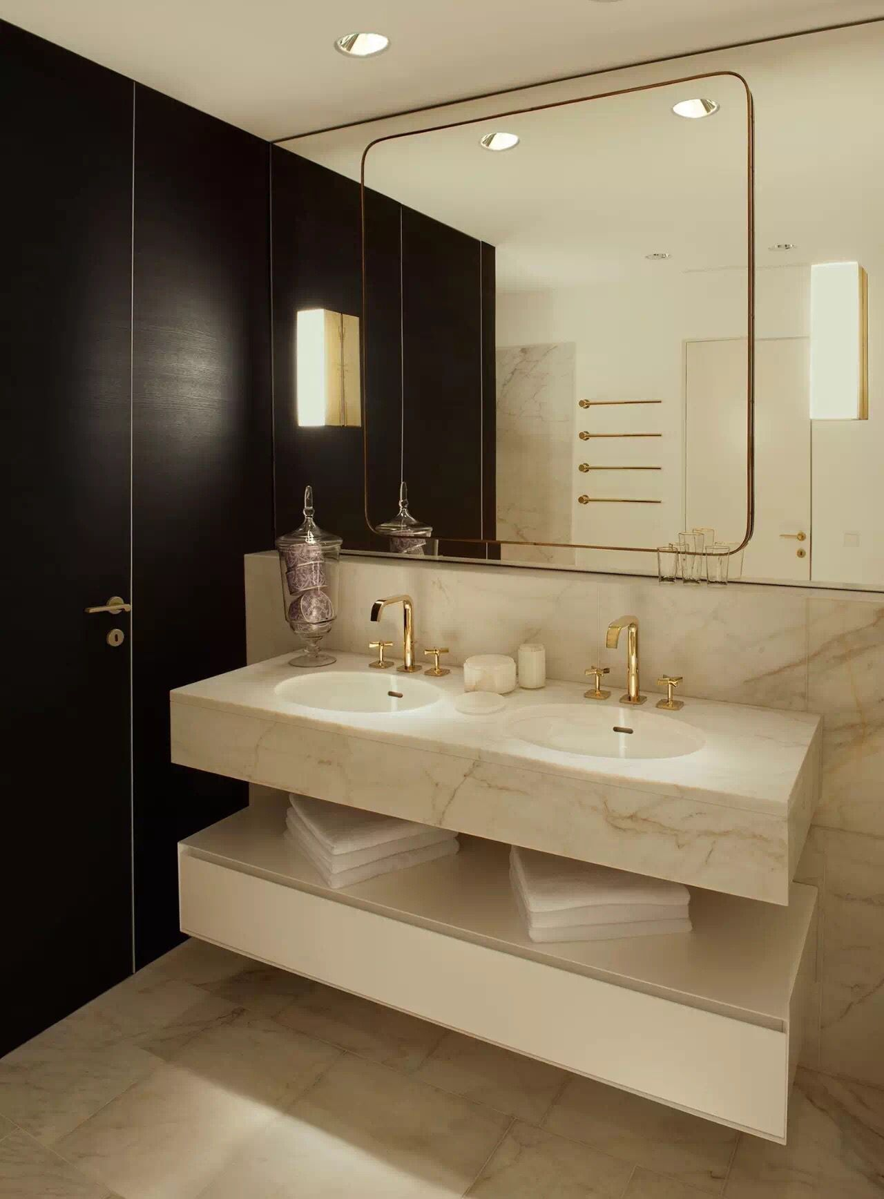 Contemporary Art Sites The master bath inside designer Kate Hume us model apartment for Elbphilharmonie Hamburg us new mixed use development by Herzog u de Meuron