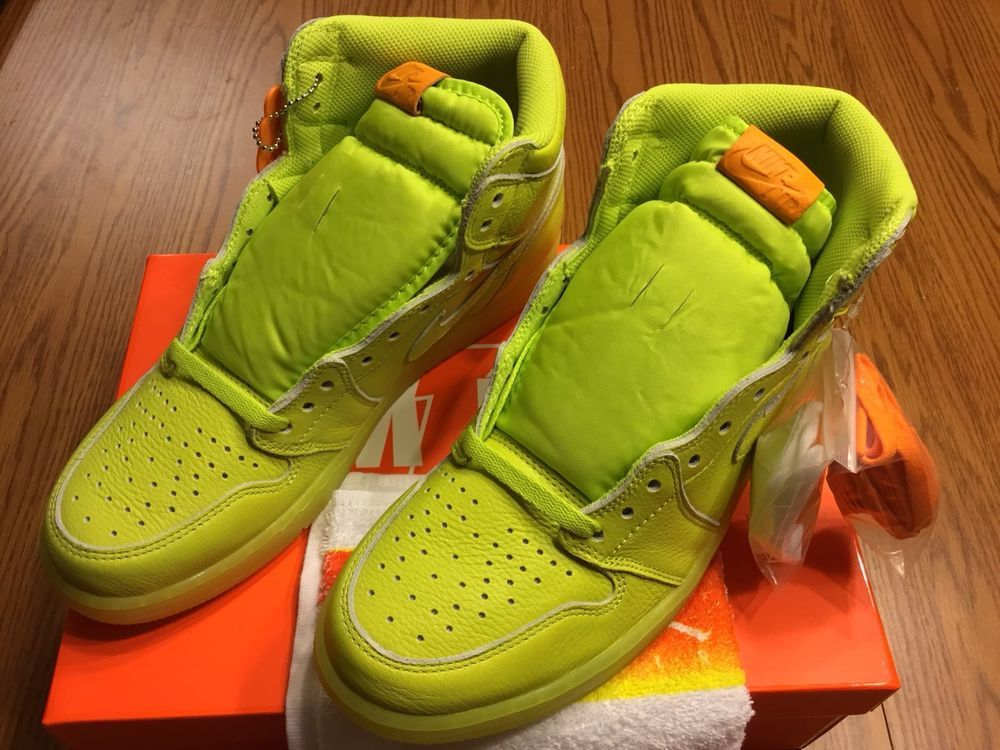 405d976b3fc9dd Air Jordan 1 Retro High Gatorade Sz 10.5 Cyber Lemon Lemon Lime AJ5997-345   fashion  clothing  shoes  accessories  mensshoes  athleticshoes (ebay link)