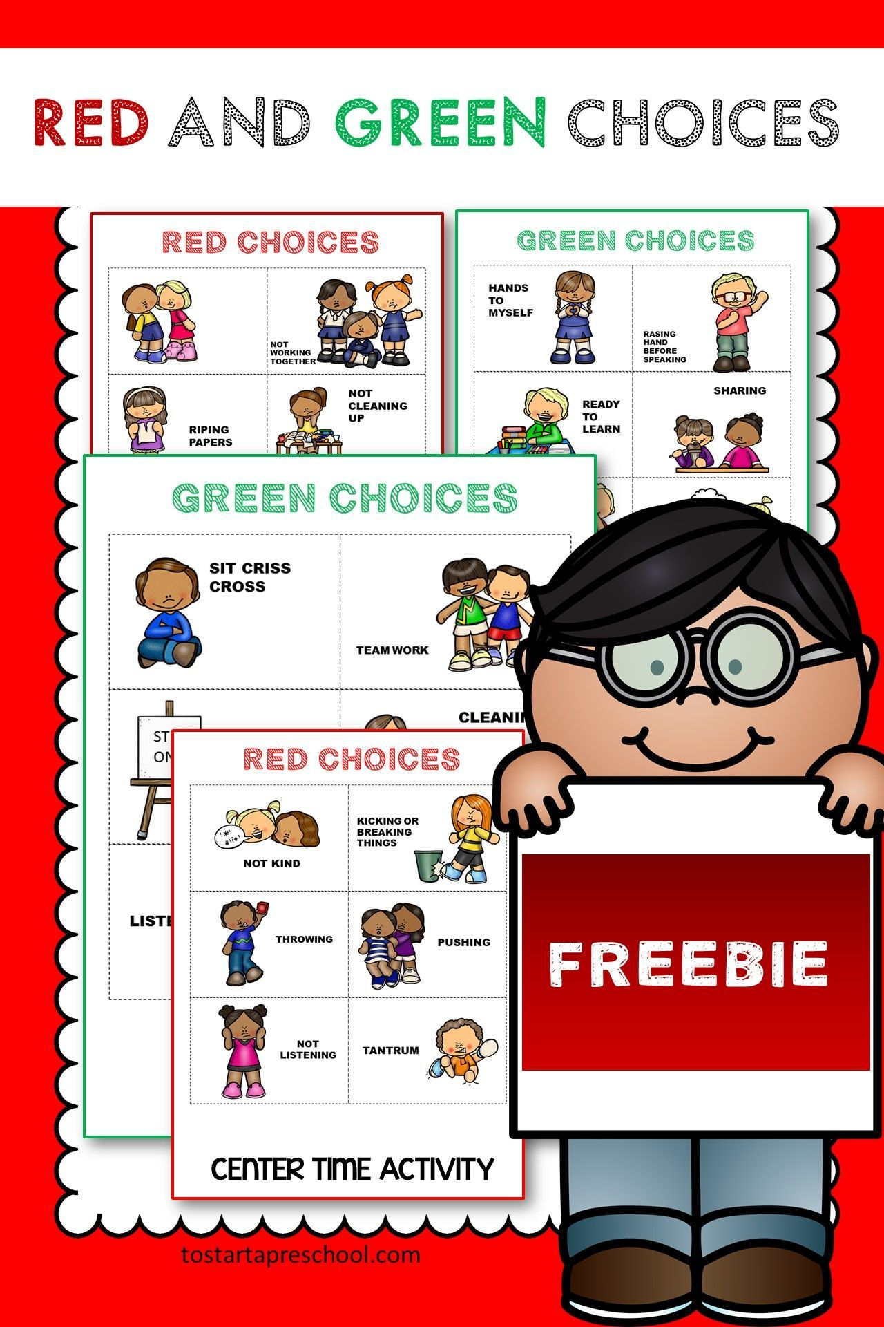 Freebie Red And Green Choice Cards In