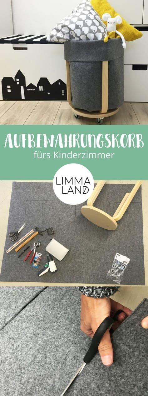 IKEA Hack: Filz Utensilo basteln statt nähen mit dem FROSTA Hocker #ikeakinderzimmer
