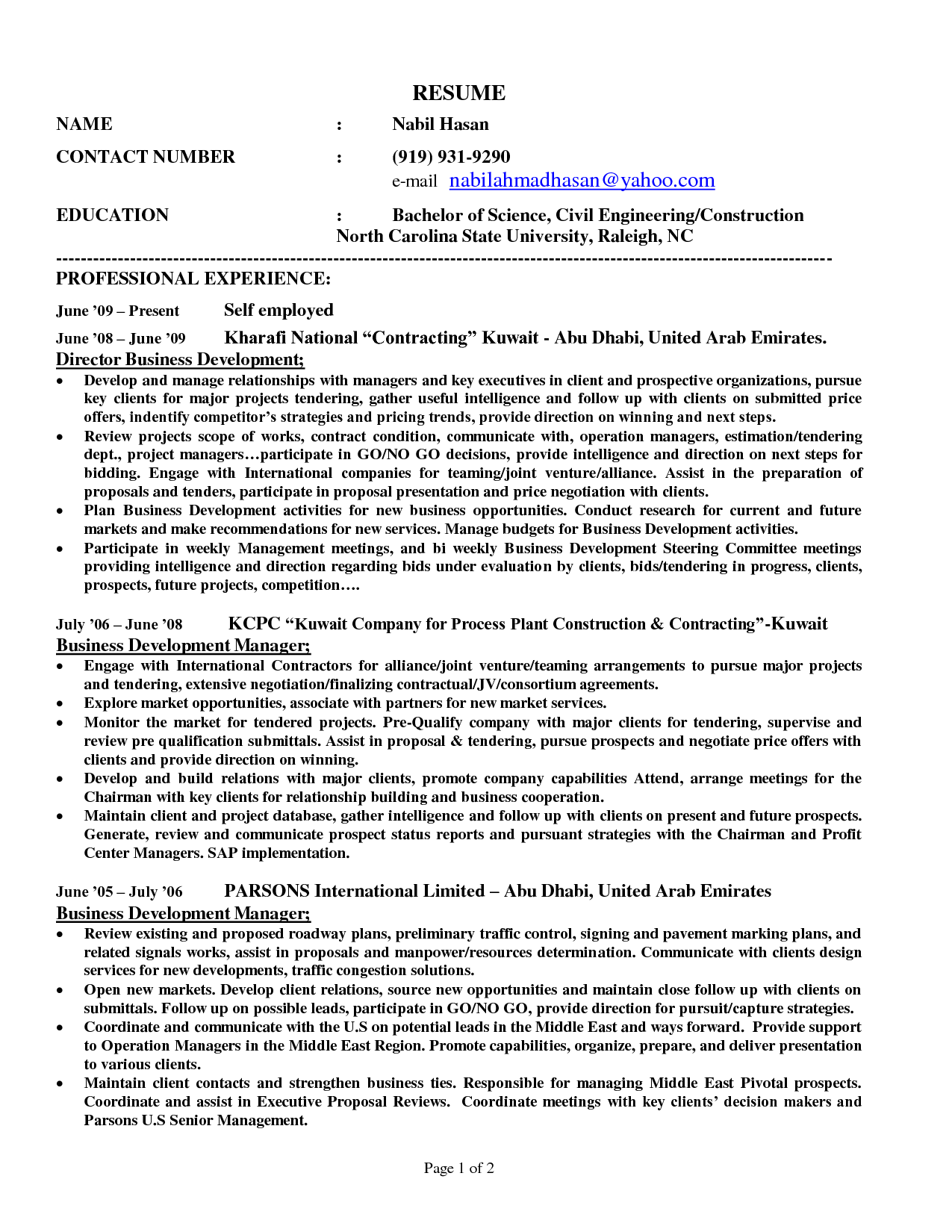 Self Employed Construction Resume Sample Making Money At Home Can Be