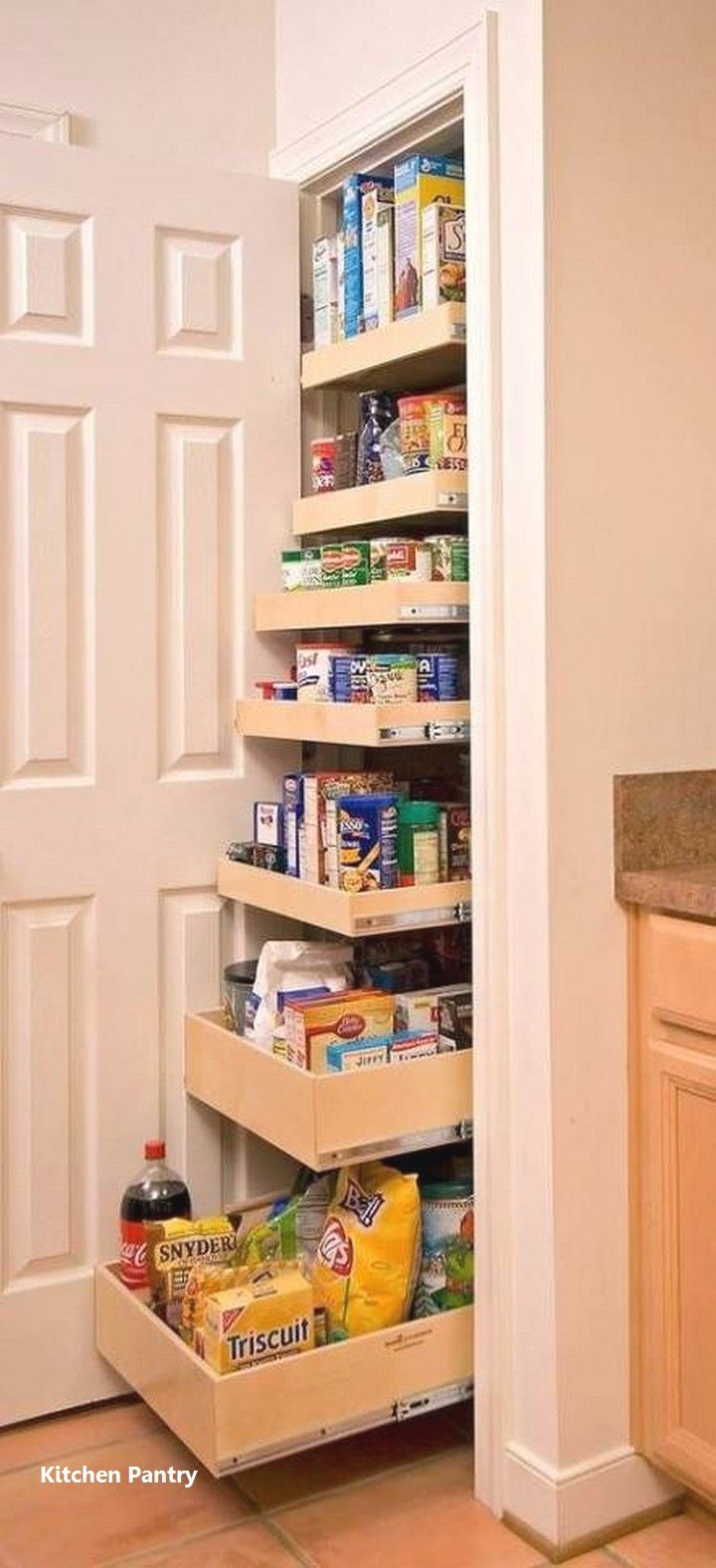 New Kitchen Pantry Ideas In 2020 Space Saving Kitchen Pantry Design Pantry Shelving