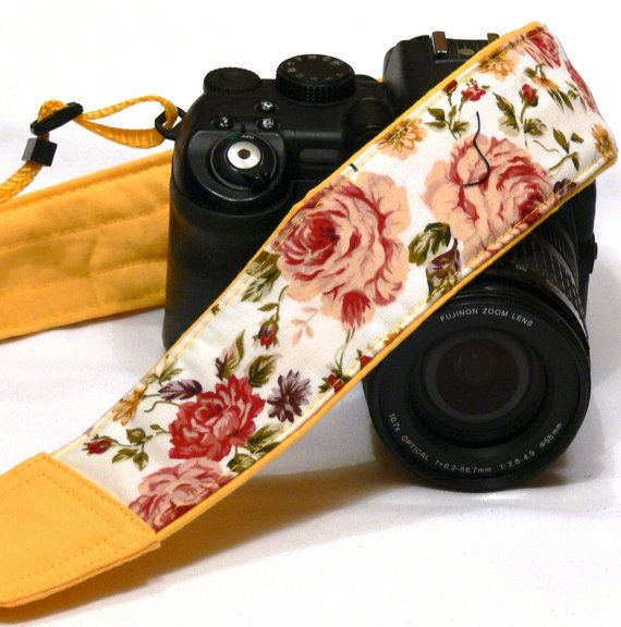 Roses Camera Strap. DSLR Camera Strap. Canon by
