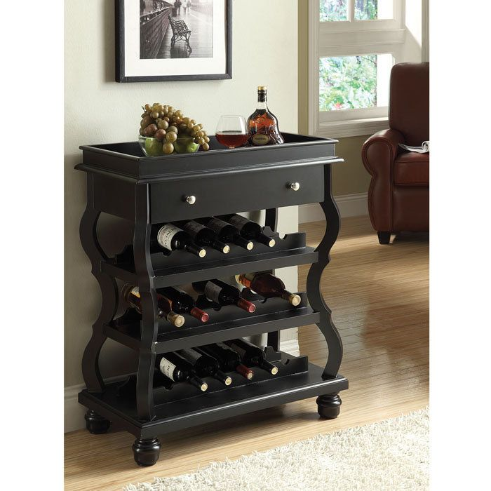 Mini Bar Cabinets: Cecilia Wine Bar Mini Wine Rack