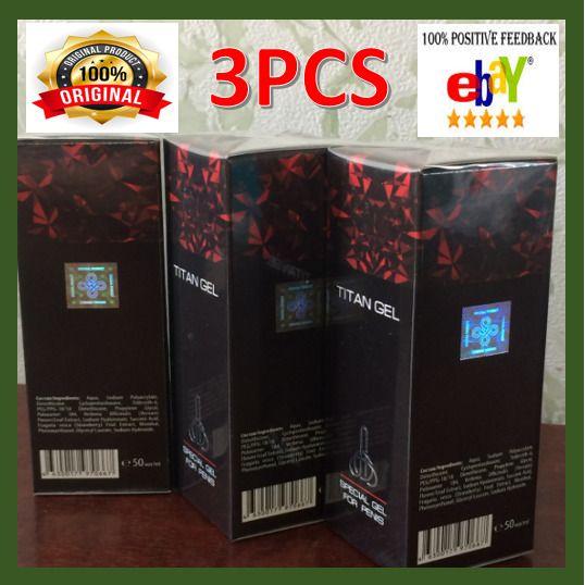 3 pcs x 50 ml titan gel intimate lubricant for men 100 original