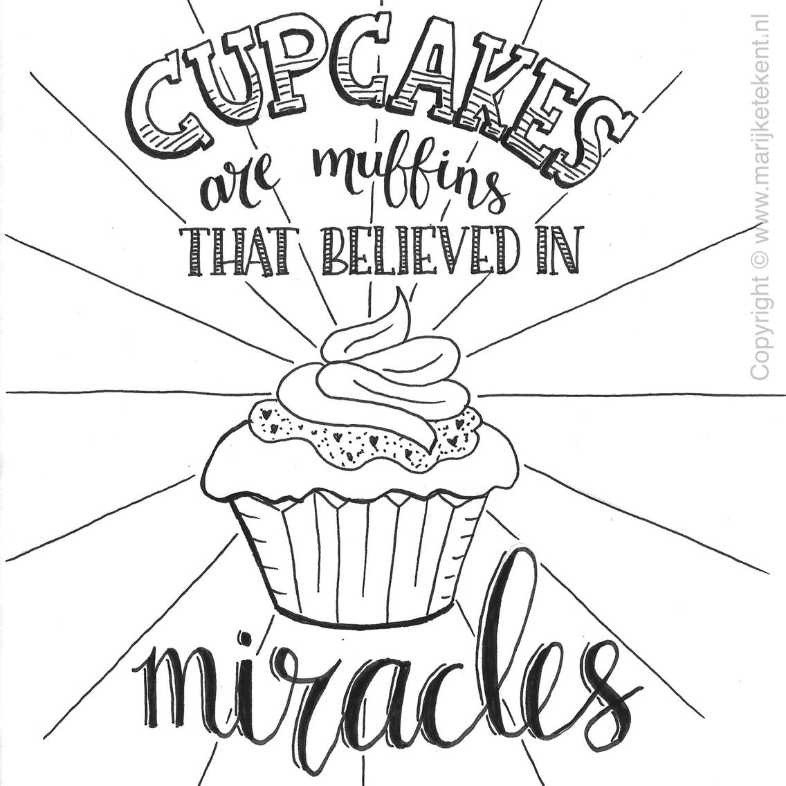 cupcakes handlettering