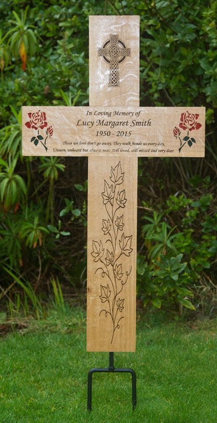 Mega Memorial Cross Misc Wooden Crosses Grave Decorations