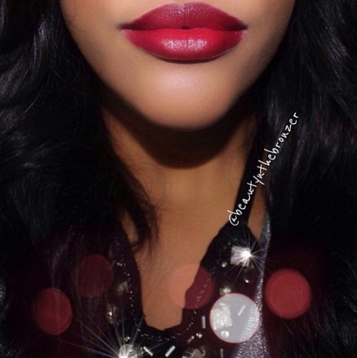 Frankie Rose Cosmetics deep red wine lipstick