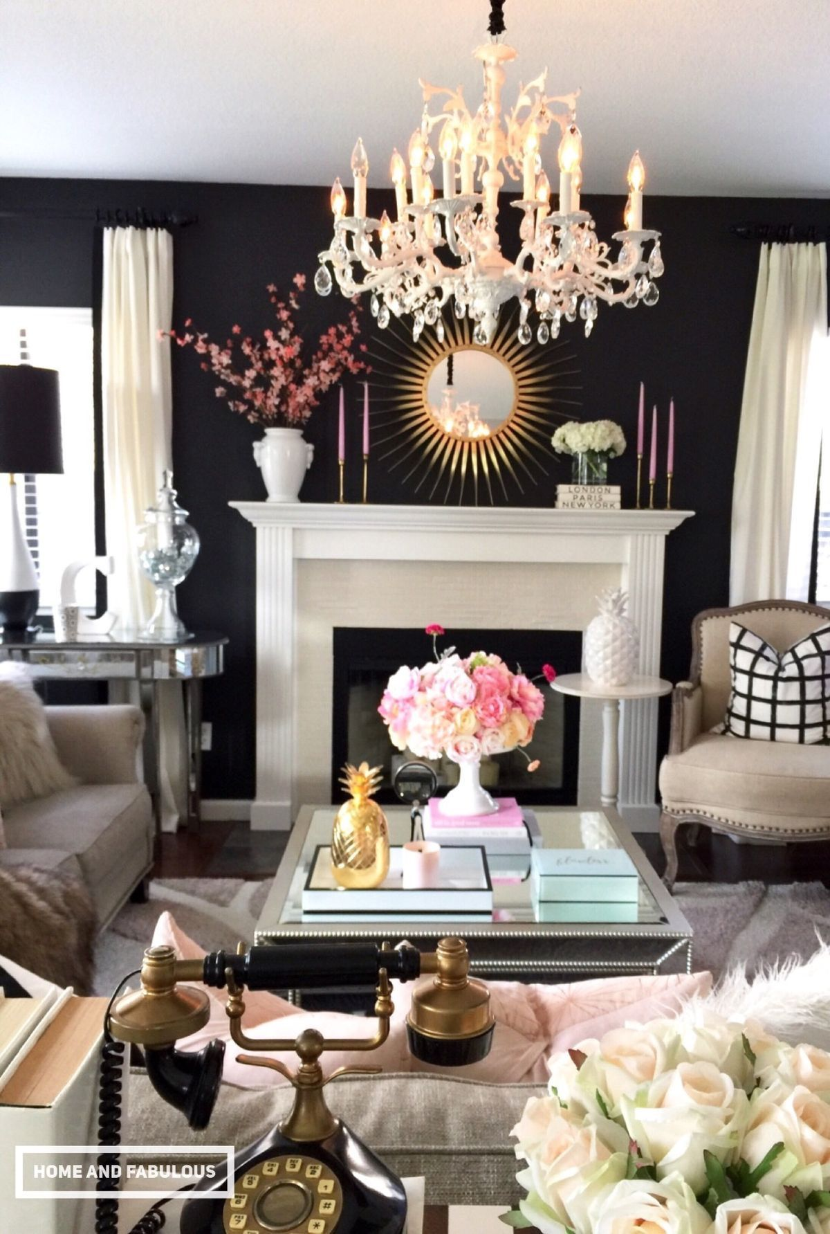 black white gold and pink who knew living room ideas black rh pinterest com