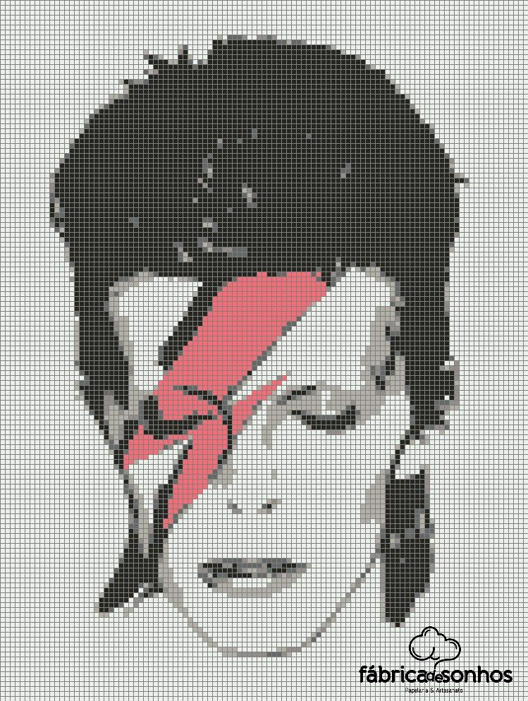 Bowie #CrossStitch | graphs | Pinterest | Punto de cruz, Bordado y ...