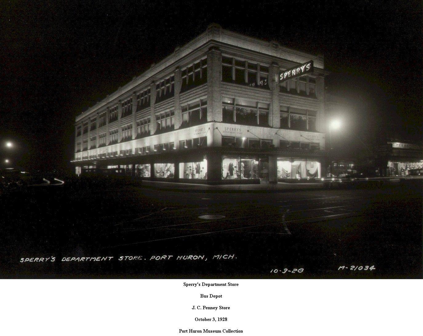 SPERRY'S DEPARTMENT STORE. PORT HURON MI. Port huron