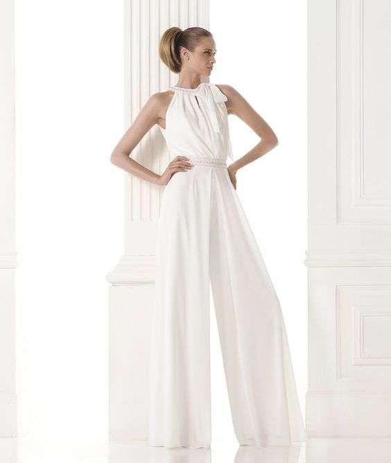 Conjunto con pantalón de Pronovias - Elegante conjunto con pantalón ...