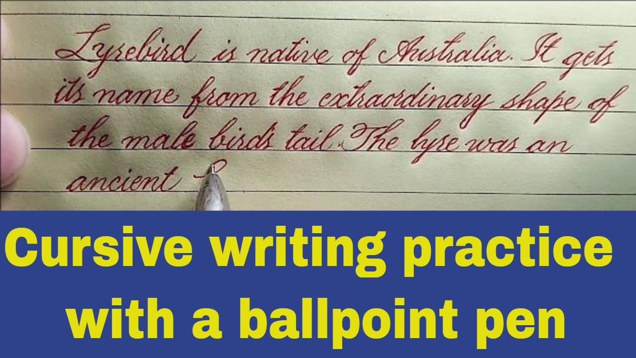 Paragraph Writing In Beautiful English Handwriting Cursive Writing Practice With A Ballpoint Pen Youtube Cursive Writing Writing Words Paragraph Writing [ 720 x 1280 Pixel ]