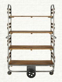 Patisserie Tall Bakers Rack In Natural Arhaus Bookshelf Styling