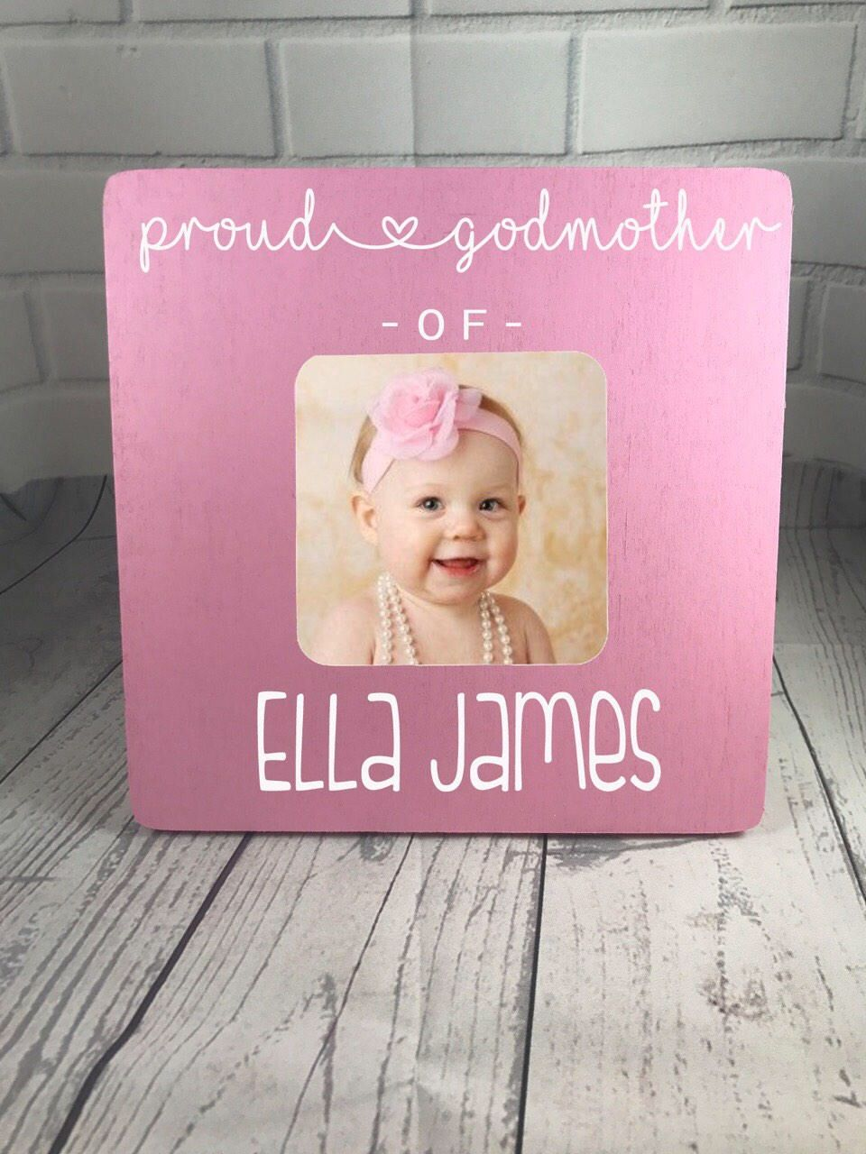 Personalized Godmother Frame, Baby Girl Frame, Gift for Godmother ...