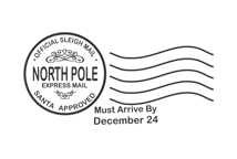 North Pole Postmark Rubber Stamp C653 By CreativeImagesStamps