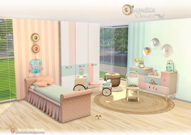Donuts kidsroom at SIMcredible! Designs 4 • Sims 4 Updates