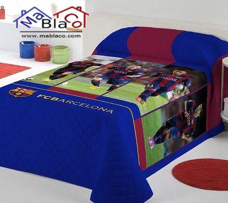 Colcha jugadores fc barcelona ropa de cama fc barcelona - Ropa hogar barcelona ...
