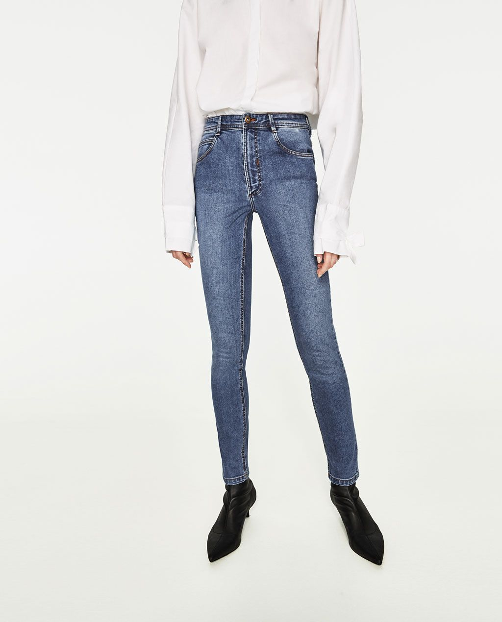 ba73be67 HIGH-RISE SKINNY FIT JEANS-View All-JEANS-WOMAN   ZARA United States ...