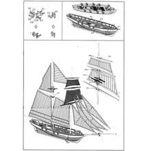 DIY 1:100 Wooden Sailing Ship 3D Model, Laser Cutting Process, Gifts for Adults