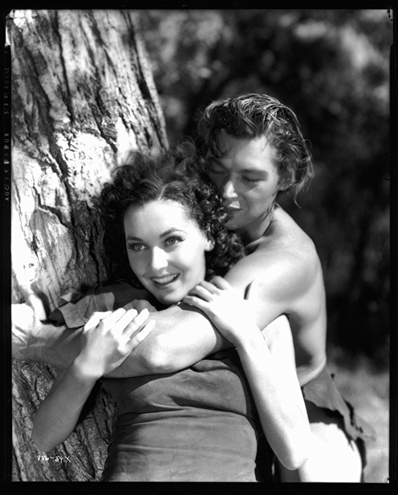 Maureen O'Sullivan and Johnny Weissmuller in Tarzan Escapes
