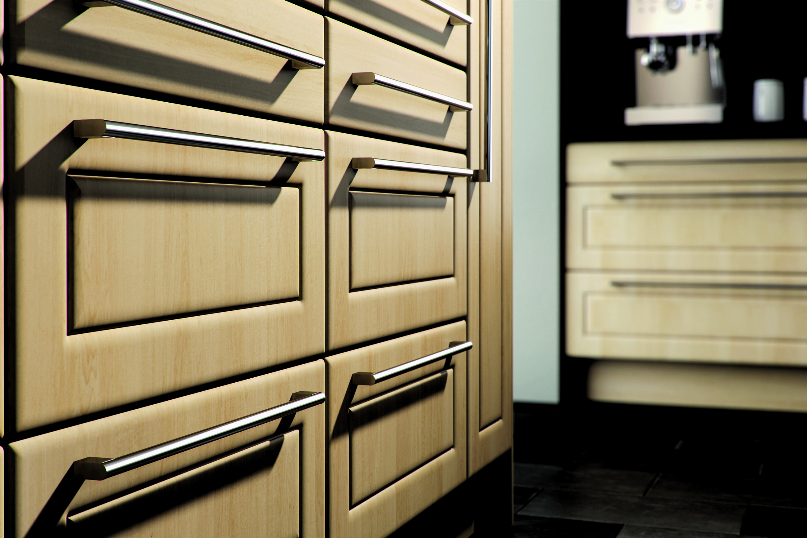 Canadian Maple finish on our Ashford style fitted kitchen ...
