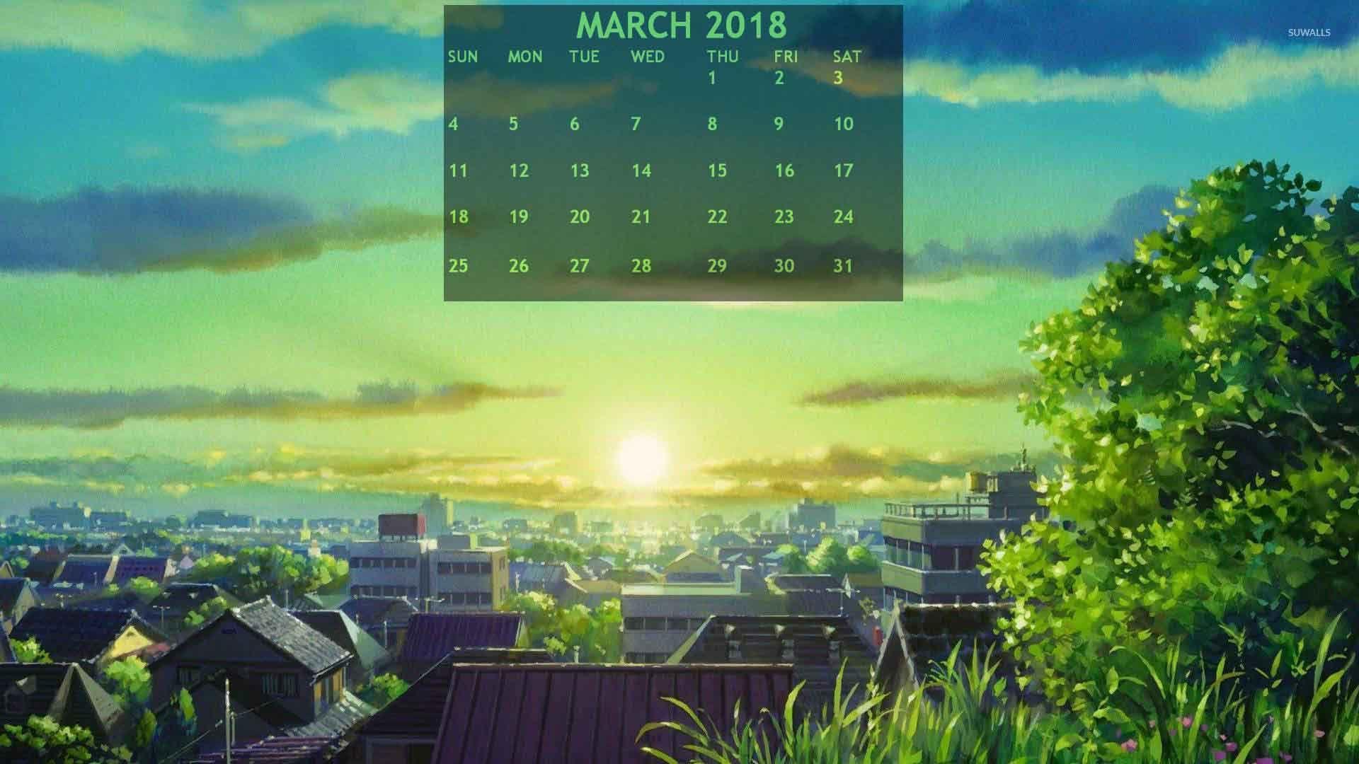 March 2018 calendar nature wallpaper 2018 calendars - March desktop wallpaper ...