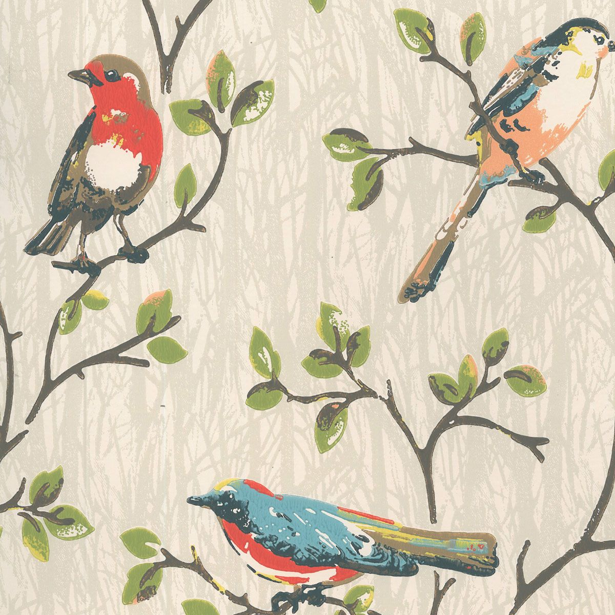 Wallpaper Garden Birds Wallpaper Cathkidston Bird Wallpaper Retro Wallpaper Mural Wallpaper