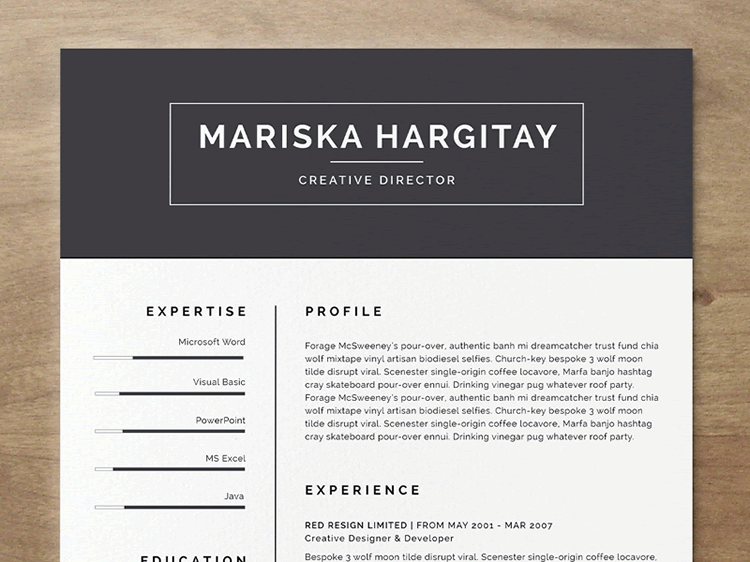20 beautiful  u0026 free resume templates for designers